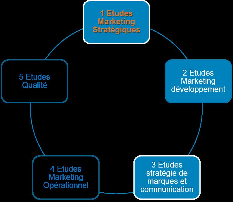 A-Marketing propose plusieurs choix d'études