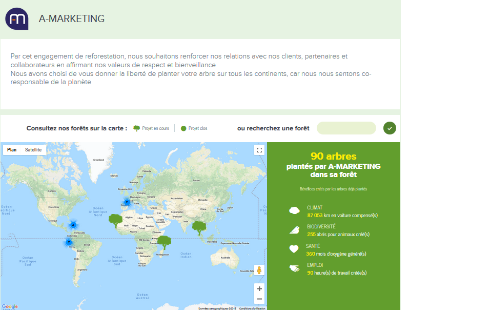 Notre Foret Digitale et Réelle chez Reforest'action